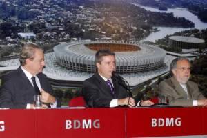 Prefeito Marcio Lacerda, governador Antonio Anastasia e Paulo Paiva